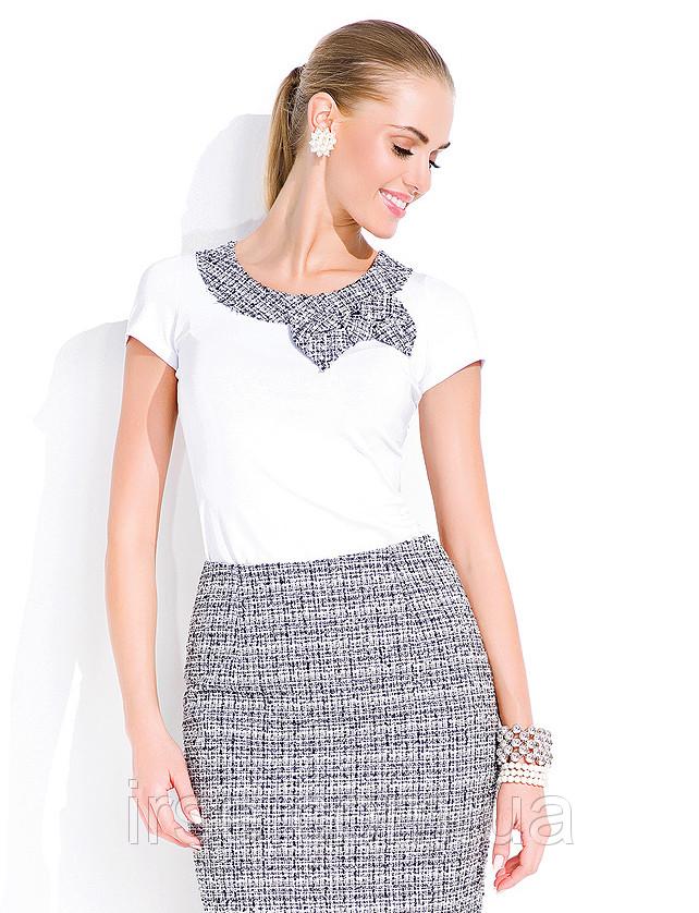 Топ женский белого цвета в офисном стиле. Модель Muriel Zaps.