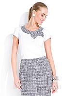 Топ женский белого цвета в офисном стиле. Модель Muriel Zaps, коллекция весна-лето 2014