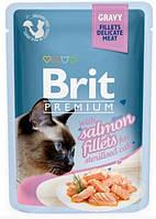 Brit Premium Cat pouch Филе лосося в соусе 85 г