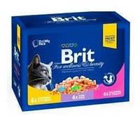 Brit Premium Cat Семейная тарелка Ассорти 3 вкуса 1200 г
