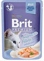 Brit Premium Cat pouch Филе лосося в желе 85 г