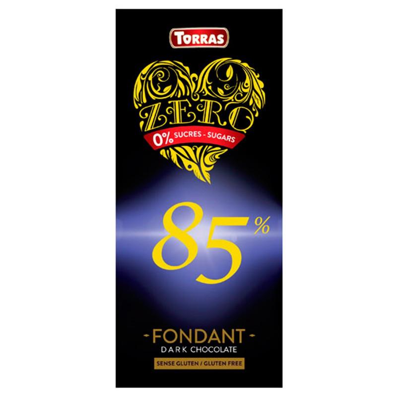 Шоколад черный без сахара Torras ZERO 85% какао 100 г Испания