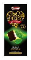 Черный шоколад без сахара Torras ZERO with mint с мятой 100 г