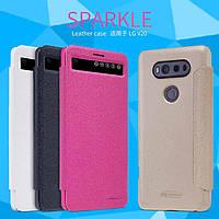 Кожаный чехол (книжка) Nillkin Sparkle Series для LG H990 V20