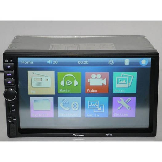 Магнитола 2Din Pioneer 7018  (USB+Bluetooth)