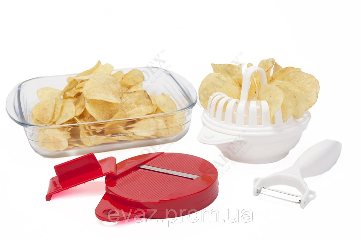 """Набор для приготовления чипсов в микроволновой печи """"ХРУСТИК"""""""