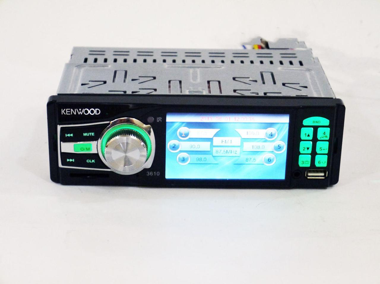 """Автомагнитола MP5 Kenwood 3610, экран 3.6"""""""