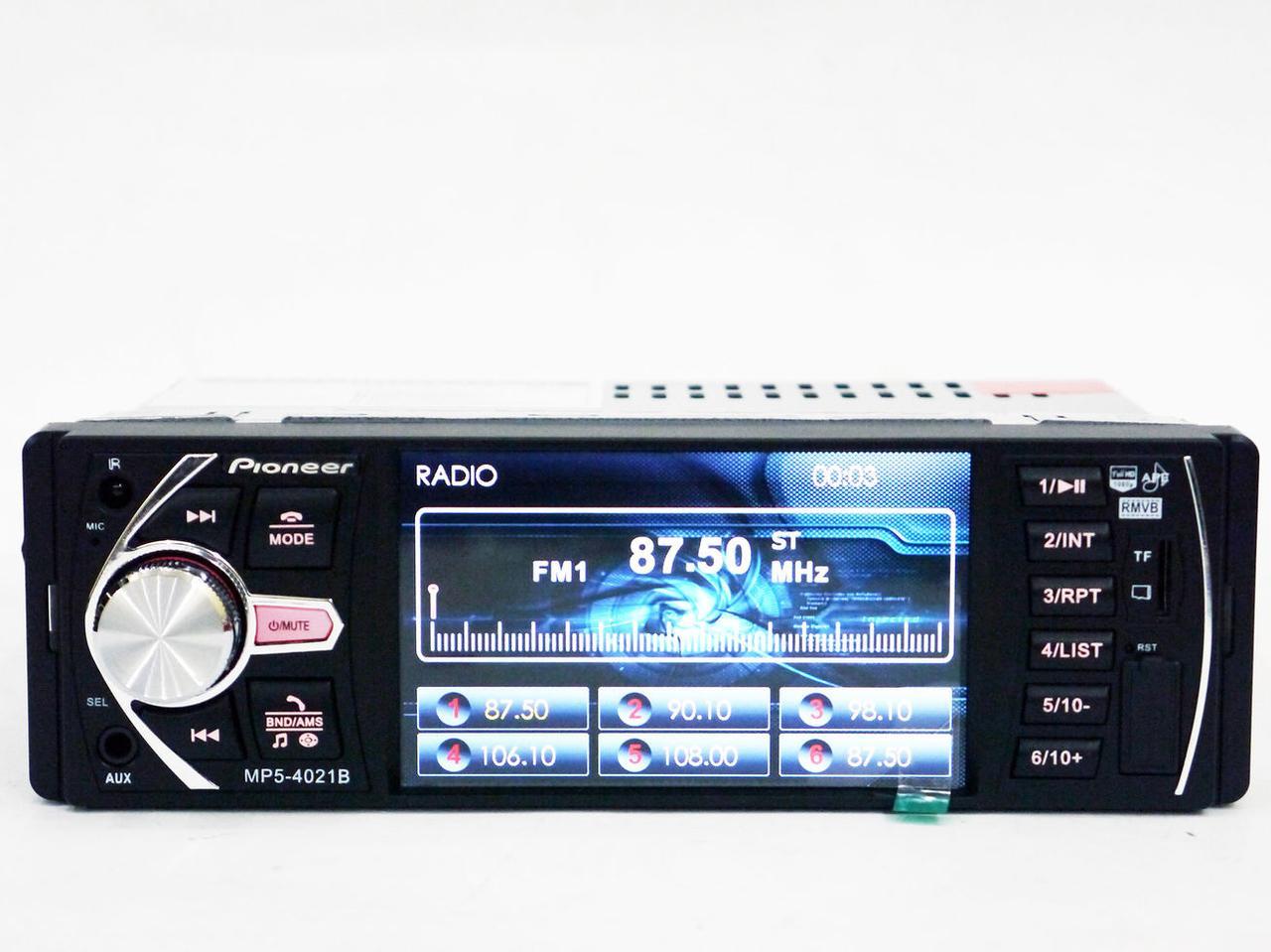 Автомагнитола MP5 Pioneer 4021B экран 4.1 Bluetooth AV-in