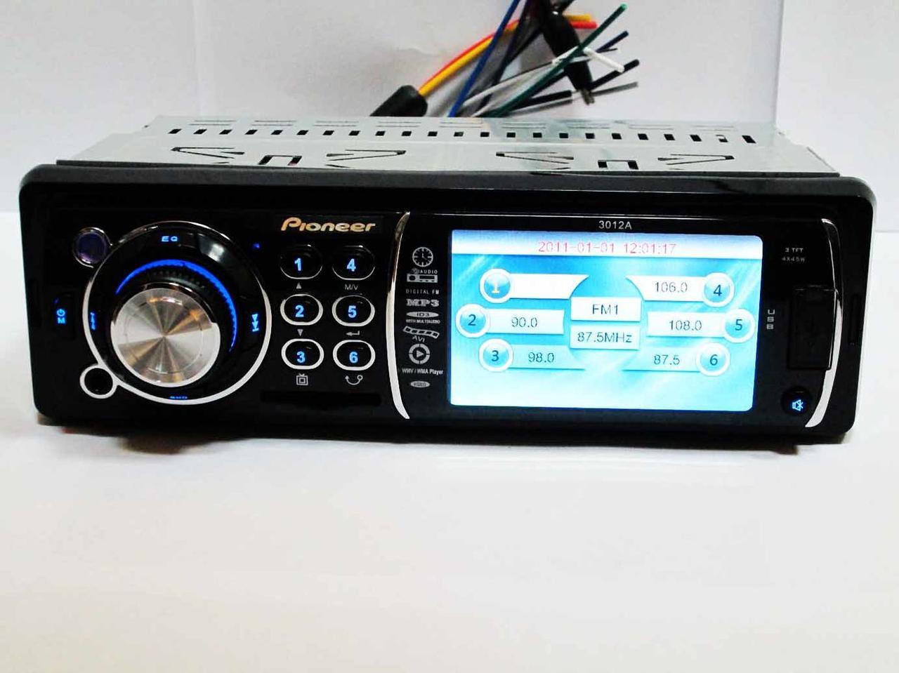 "Автомагнитола Pioneer 3012A   3"" Video экран"