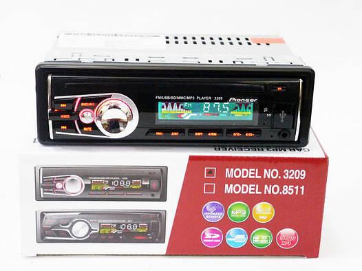 Автомагнитола Pioneer 3209 RGB подсветка