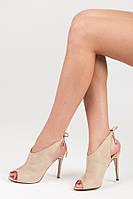 01-10 Бежевые женские туфли JZ-6322BE