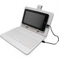 Чехол-клавиатура 10 дюймов (microusb) Белый