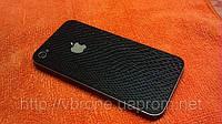 Декоративная защитная пленка для Iphone 4/4S, рептилия черная