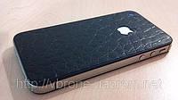 Декоративная защитная пленка для Iphone 4/4S, аллигатор черный