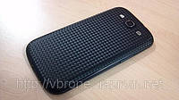 Декоративная защитная пленка для Samsung Galaxy S III 3 карбон черный кубик