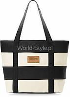 11-02 Черная tidebuy эко женская сумка shopper пляжная в полоску 5902734918000
