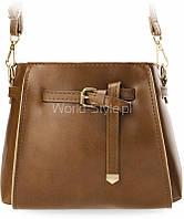 11-29 Коричневая малая женская ретро-сумка мешочек нарядная пряжка ремень 5902734918109