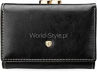 03-22 Черный кожаный женский оригинальный кошелек петерсон bigiel 5902734919601