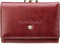 Красный кожаный женский оригинальный кошелек петерсон bigiel 5902734919595