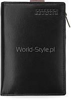 Черно-коричневый оригинальный мужской кошелек петерсон 2 в 1 съемная пакетик 5902734919434