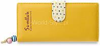 11-29 Желтый женский кошелек клатч кожа цвета в горошек BGD8001YELLOW