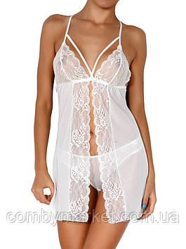 Комплект: полупрозрачная ночная сорочка и трусики