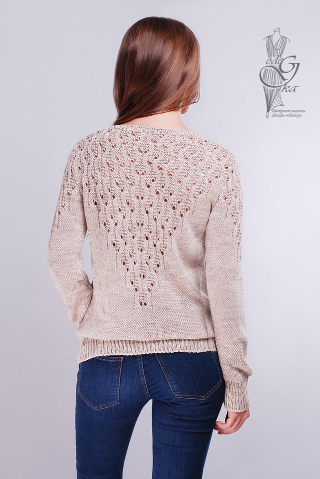 Фото-1 Красивых женских свитеров Ажур-1