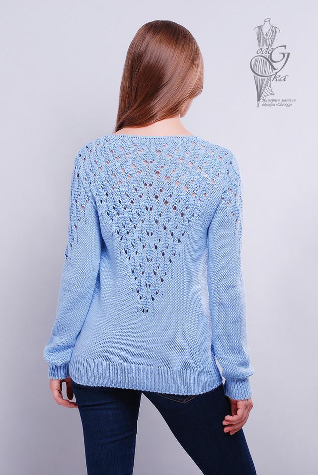 Фото-1 Красивых женских свитеров Ажур-3