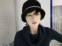 РАСПРОДАЖА Женская шляпа с ангоры черная на подкладке хорошее качество по низкой цене осень зима