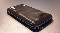 """Декоративная защитная пленка для Samsung GT-S5830 Galaxy Ace """"карбон коричневый"""""""