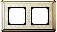 Рамка 2-пост. GIRA ClassiX Art латунь/кремовый