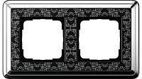 Рамка 2-пост. GIRA ClassiX Art хром/чёрный