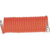 Шланг спиральный воздушный 10 м 6х8 мм с быстросъемными соединениями MTX 570049