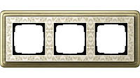 Рамка 3-пост. GIRA ClassiX Art бронза/кремовый