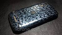 """Декоративная защитная пленка для Motorola Photon 4G """"аллигатор серебристый"""""""