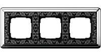 Рамка 3-пост. GIRA ClassiX Art хром/чёрный