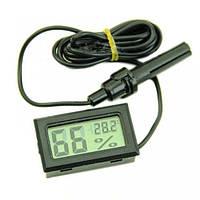 2 в 1 Цифровой термометр и гигрометр (измеритель влажности) с выносным датчиком влажности и температуры