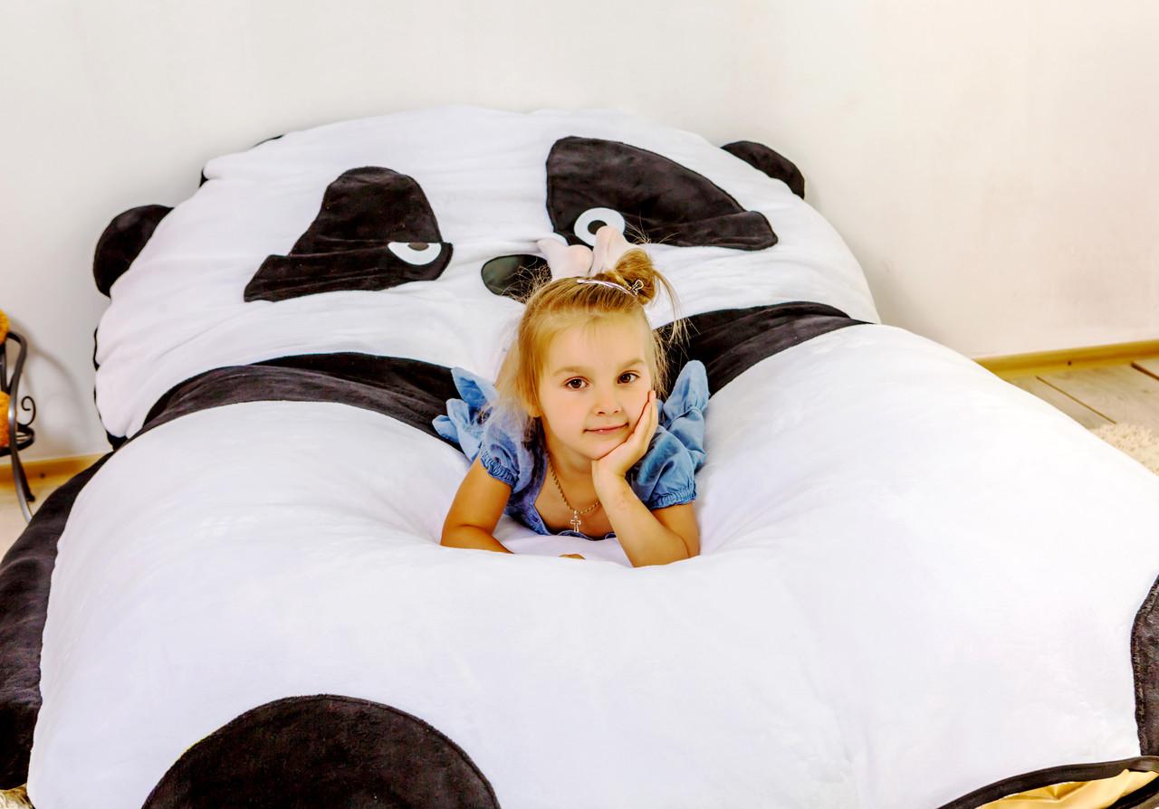 Детская мягкая кровать Пандочка