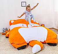 Детская мягкая кровать Лисичка