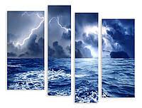 Модульная картина молния над морем