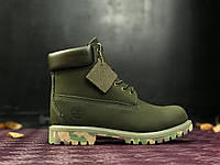Ботинки Timberland green camo без меха (тимберленд). Живое фото. Топ качество!