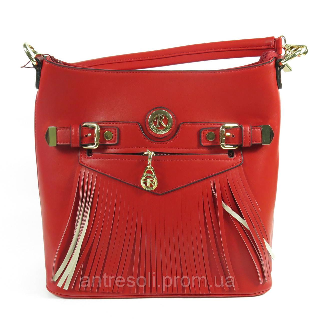 Красная сумка через плечо женская