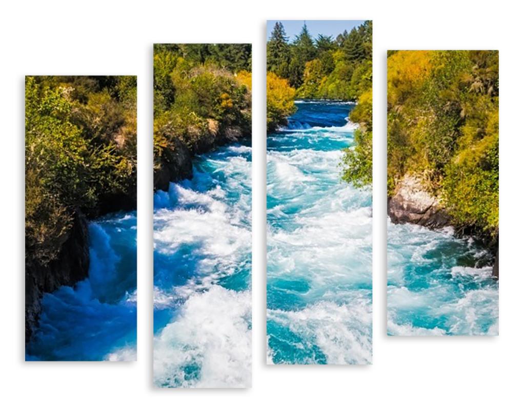 Модульная картина бурная река