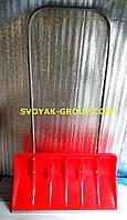 """Лопата-скребок снегоуборочная """"Maan""""-(Польша).Широкая лопата 45х75см,с роликами."""