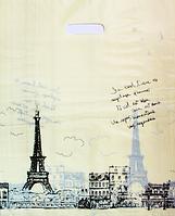 """""""Пакет полиэтиленовый Типа Банан. """"Париж"""" упаковка 100 шт. Ширина: 45 см. Высота: 55 см."""""""