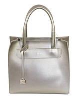 Женская сумка серого цвета классика