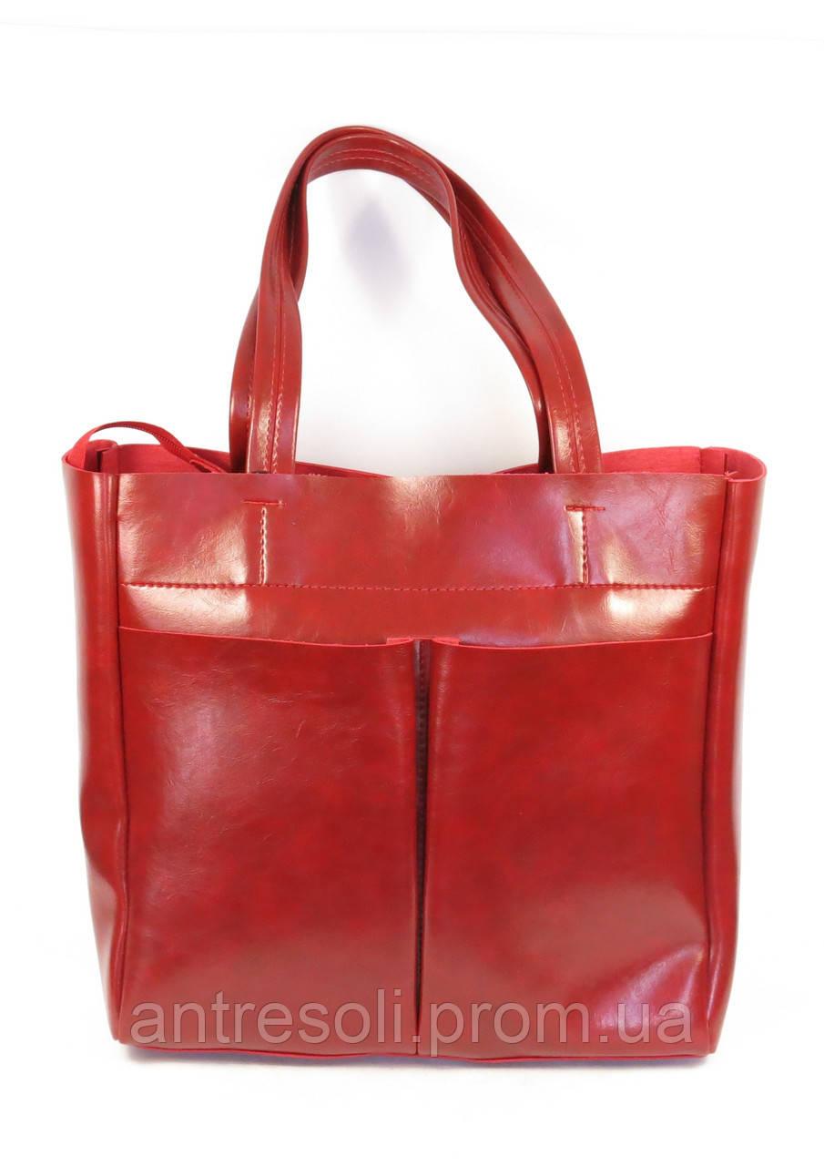 Женская стильная красная сумка