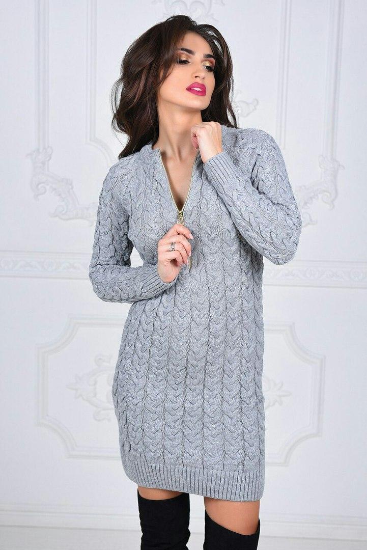 Платье  №3573В (р-р. 42-46). Нить: акрил+полиамид.