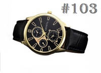 Мужские кварцевые наручные часы / годинник Geneva c ремешком черного цвета (103)