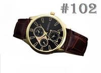Мужские часы c ремешком коричневого цвета Geneva (103)